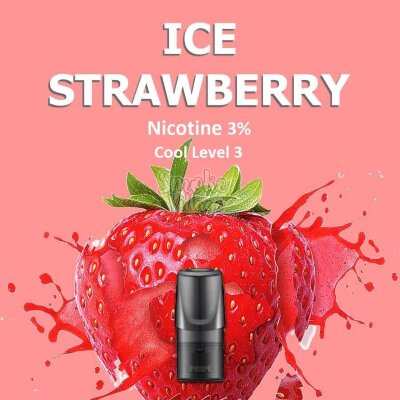 Сменный картридж Relx Classic 2 ml Ice Strawberry (Клубника) 3%