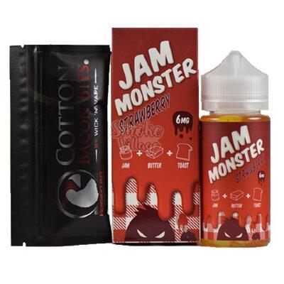 Жидкость Jam Monster Strawberry 100мл (3мг)