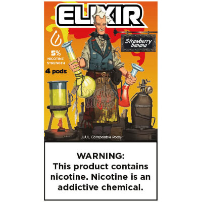 Картриджи Elixir Strawberry Banana