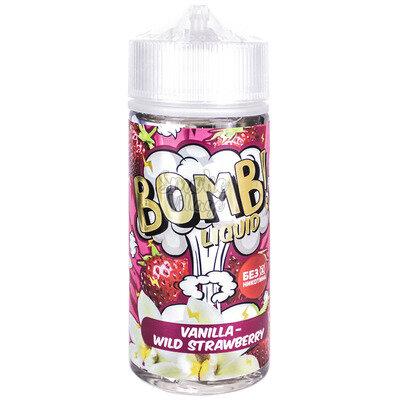 Cotton Candy Bomb! Vanilla - Wild Strawberry 120мл (3мг)